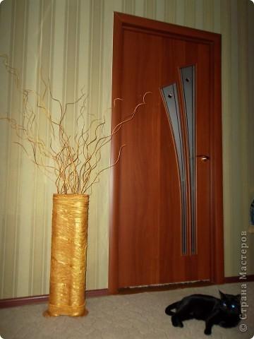 Напольная ваза с веточками из ивы фото 3