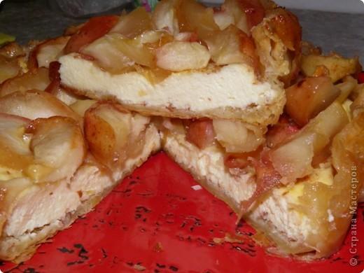 Творожно-яблочный пирог фото 8