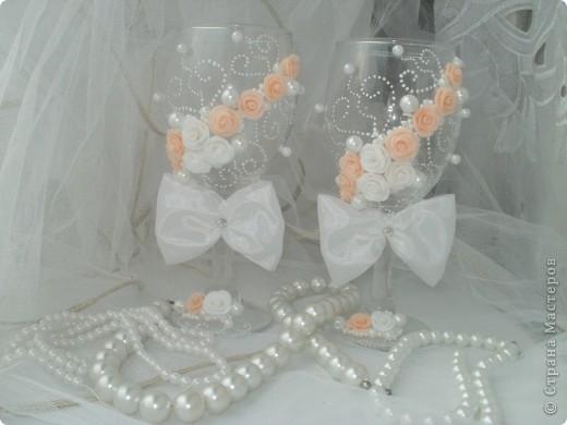 Мои первые Свадебные бокальчики! фото 1