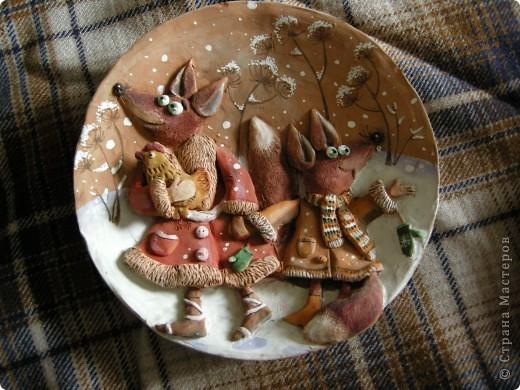 Птица Сирин.  Солёное тесто, гуашь, золото(акрил),ткань, оргалит, клей. фото 4