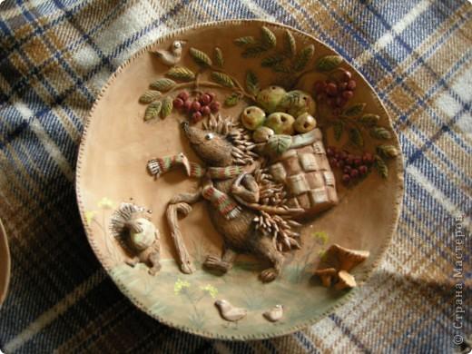 Птица Сирин.  Солёное тесто, гуашь, золото(акрил),ткань, оргалит, клей. фото 6