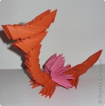 Мастер-класс Новый год Оригами китайское модульное Дракончик маленький Бумага фото 6