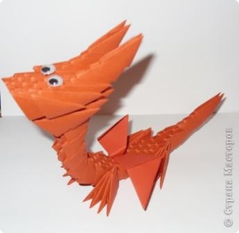 Мастер-класс Новый год Оригами китайское модульное Дракончик маленький Бумага фото 7
