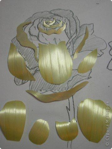 Мастер-класс Аппликация Как я делаю розочки для картин из соломки МК Соломка фото 12