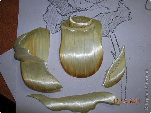 Мастер-класс Аппликация Как я делаю розочки для картин из соломки МК Соломка фото 15
