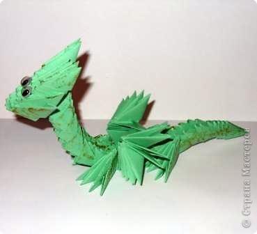 Мастер-класс Новый год Оригами китайское модульное Дракончик маленький Бумага фото 10