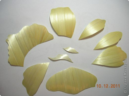 Мастер-класс Аппликация Как я делаю розочки для картин из соломки МК Соломка фото 5