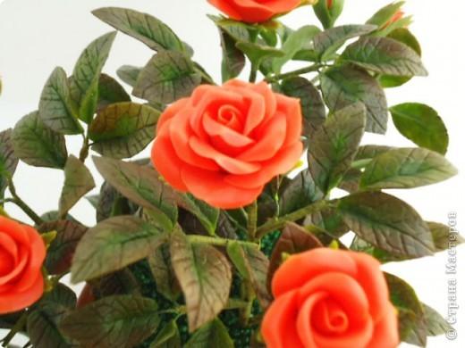 Вот такая маленькая кустовая роза сделана маме в подарок фото 1
