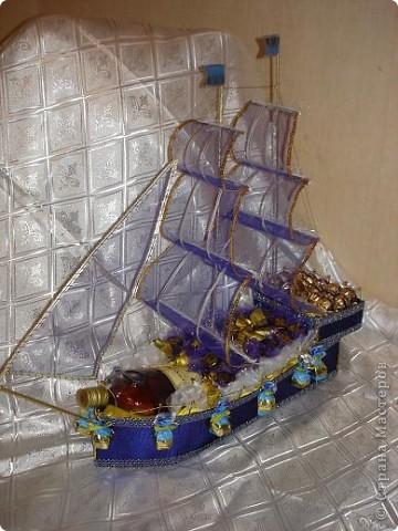 Как сделать корабль с бутылкой пошагово