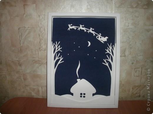 В ходе подготовки к Новому году и Рождеству возникла идея создания объемного панно «Рождественская ночь».