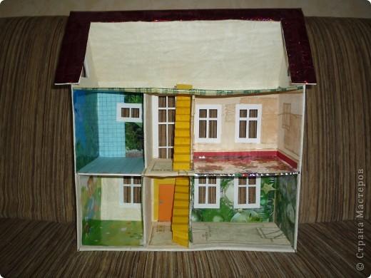 Дом из картона макет своими руками