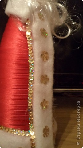 Мастер-класс Новый год Моделирование конструирование Дед Мороз МК Ленты фото 14