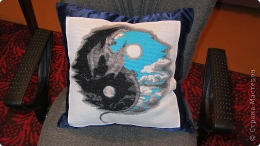 новогодняя подушка фото 1