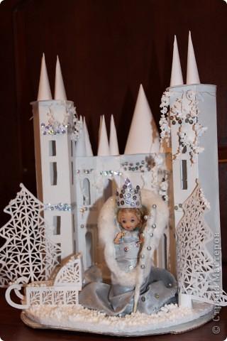 Сделать замок снежной королевы своими руками