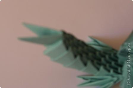 Мастер-класс Новый год Оригами китайское модульное Дракончик маленький Бумага фото 11