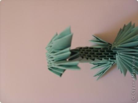 Мастер-класс Новый год Оригами китайское модульное Дракончик маленький Бумага фото 14