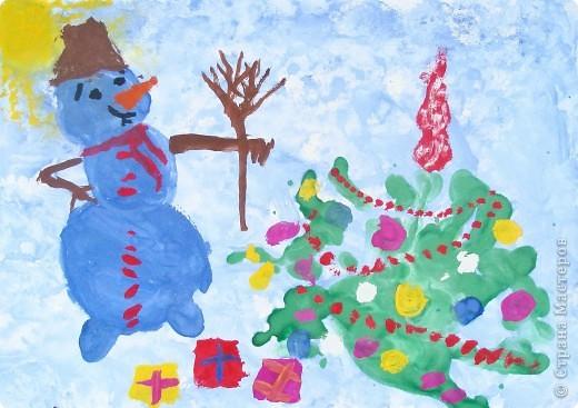Подписаться открытке, рисованию в старшей группе новогодняя открытка
