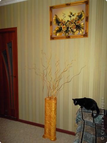 Напольная ваза с веточками из ивы фото 2