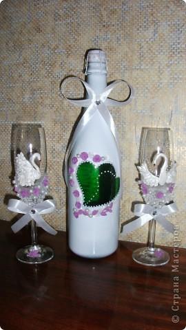 Набор на 30ти летие свадьбы. Жемчужная. Лебедей покрасила жемчужной краской - надеюсь заметно.