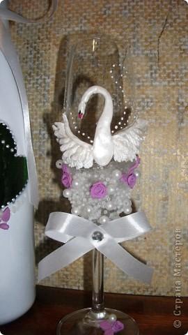 Набор на 30ти летие свадьбы. Жемчужная. Лебедей покрасила жемчужной краской - надеюсь заметно. фото 3