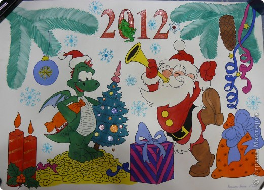 Плакаты на новый год рисовать своими руками