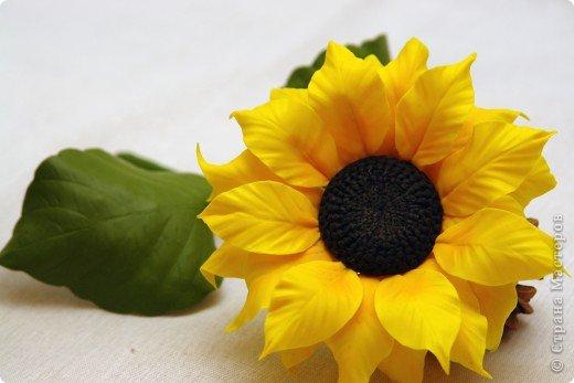 Мастер-класс Лепка Айда лепить солнышки  МК - подсолнух из холодного фарфора  Фарфор холодный фото 1
