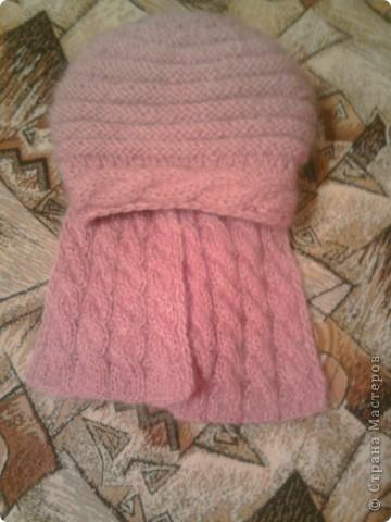 берет и шарф из мохера фото 2