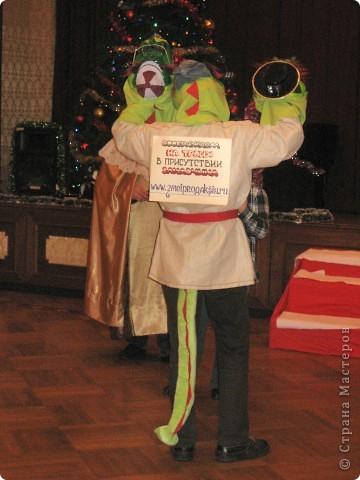 2012 Новый год - год Дракона. вот такой костюм для выступления был мной сделан к самому лучшему празднику - Новому году. фото 3