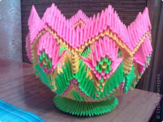 Модульное оригами ваза мастер класс цветы