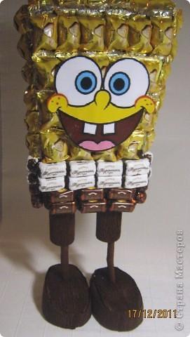 Хочу с Вами поделится МК по созданию любимого детками мультяшного героя Губки Боба. фото 29