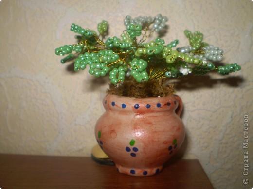Поделка изделие День матери Бисероплетение Мини-деревце Бисер.