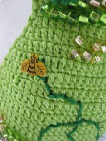 Поделка изделие Упаковка 8 марта Вязание крючком Груша хранитель ключей Нитки фото 2.