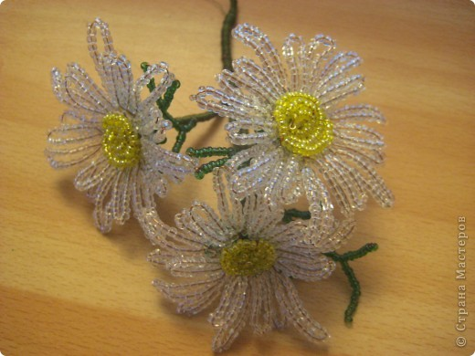 Бисероплетение цветы ромашки мастер класс