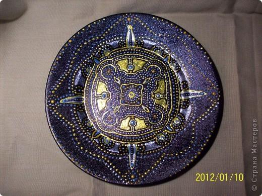 Роспись тарелки.  фото 1