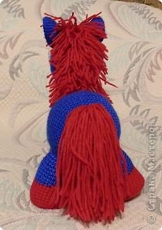Игрушка Вязание Вязание крючком Две вязаные лошадки Нитки фото 3