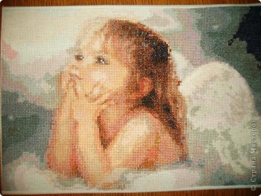 крестом Вышивка Ангелочек
