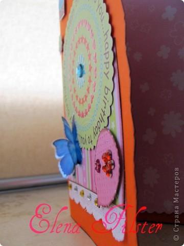 Скрап открытка ко Дню рождения фото 3