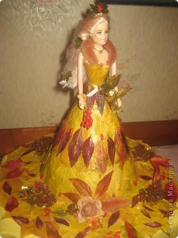 Осенние поделки кукла с листьями 93