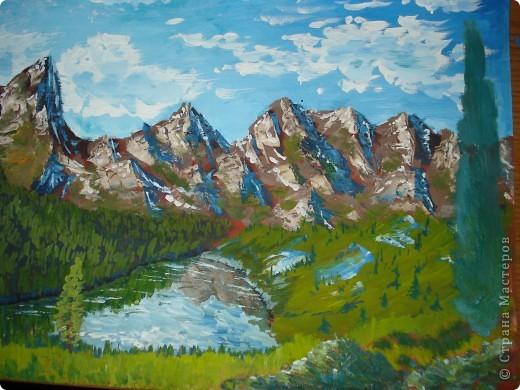 Рисовать горы красками