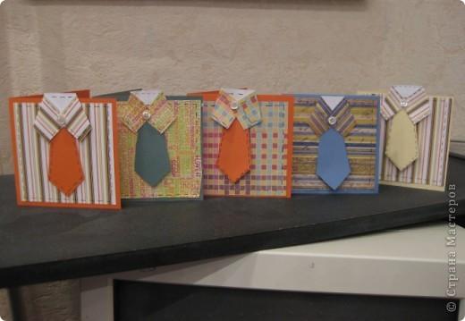 Вчера на занятии ребятам был предложен образец открытки. Мужская открытка по идее и мастер-классу  Тани Лабенко. фото 2