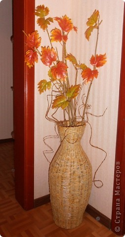 Доброго времени суток, всем!!! Решилась сплести вазу. фото 5