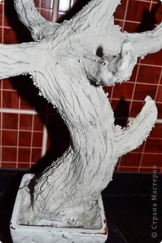 Бонсай топиарий Мастер-класс Бонсай из ниток травка Гипс Гуашь Картон Клей Нитки Проволока фото 29