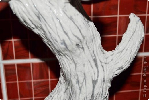 Бонсай топиарий Мастер-класс Бонсай из ниток травка Гипс Гуашь Картон Клей Нитки Проволока фото 33