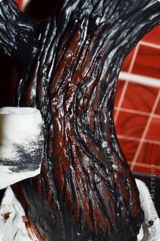 Бонсай топиарий Мастер-класс Бонсай из ниток травка Гипс Гуашь Картон Клей Нитки Проволока фото 41