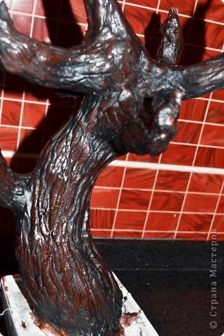 Бонсай топиарий Мастер-класс Бонсай из ниток травка Гипс Гуашь Картон Клей Нитки Проволока фото 42