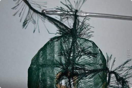 Бонсай топиарий Мастер-класс Бонсай из ниток травка Гипс Гуашь Картон Клей Нитки Проволока фото 62