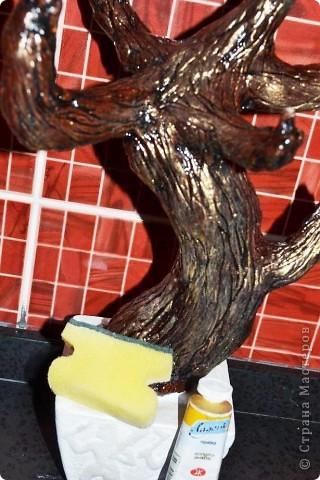 """Доброго времени суток. рада всех видеть у себя в гостях!!! Сегодня хочу вам показать как я делаю деревья с применением ниток """"травка"""". Кто заинтересовался приятного просмотра. фото 64"""