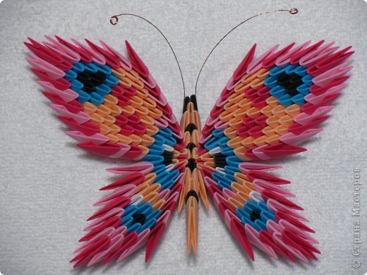 модульное Бабочки оригами