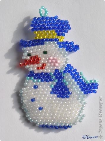 Снеговик из бисера - Дача