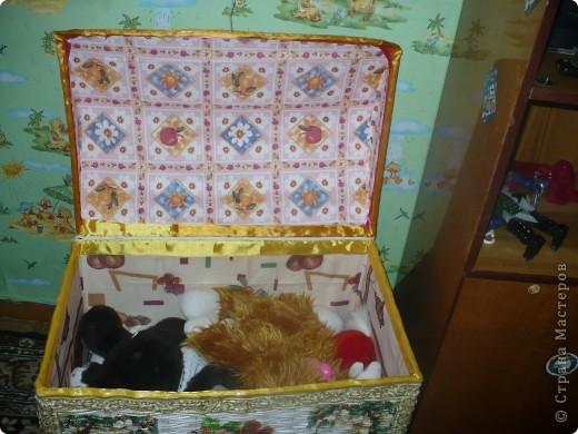 Поделка изделие Декупаж Плетение Сундук Бумага газетная Коробки Салфетки фото 4